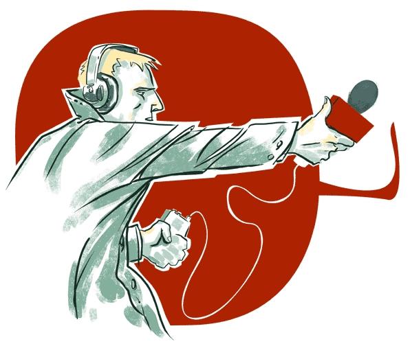 ВОмске хотят установить всквере скульптуру «Журналист назадании»